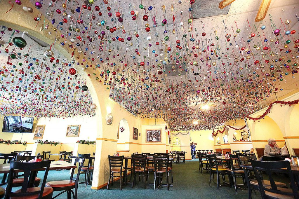 People come to Margarita's restaurant in the Glenbrook Basin just to witness the impressive display of thousands of Christmas ornaments.