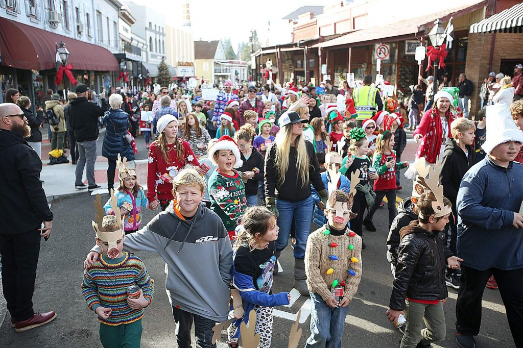 Thousands of children took to the streets of downtown Grass Valley during the 136th annual Donation Day parade.