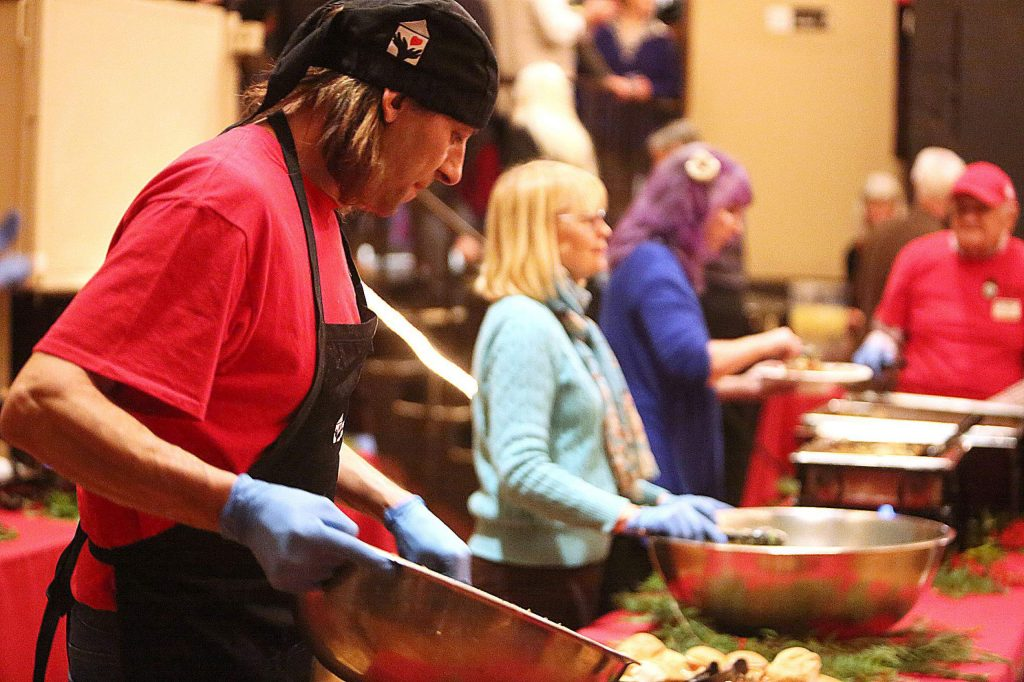 Hospitality House culinary program members cooked the meals for Saturdays Night of Giving fundraiser to benefit the shelter.