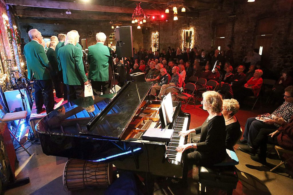 The Miner's Foundry's Stone Hall and Osborne & Woods Hall hosted more than 30 musical acts and performances during Saturday's Night of Giving fundraiser.