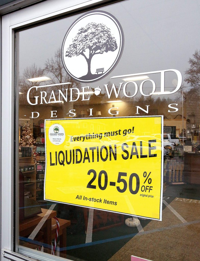 Everything must go at Grande Wood Designs in Grass Valley where all items on the floor are 20-50 percent off.