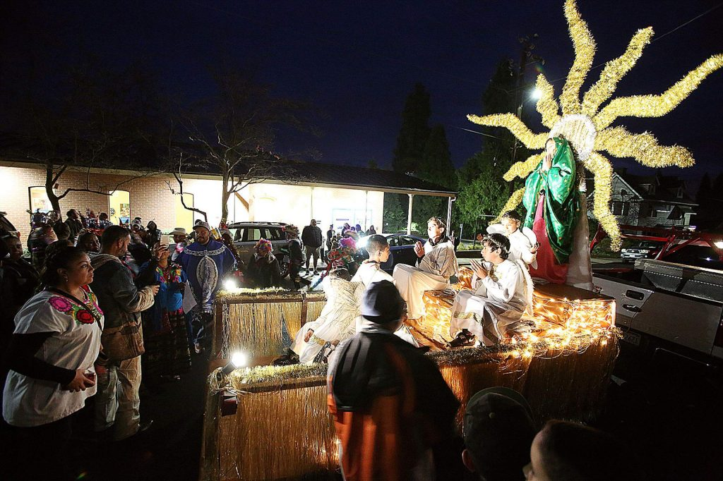 Every December 12th, the Mexican Catholic community of western Nevada County comes together to celebrate the Feast Day of Guadalupe. The celebration commemorates the appearance of Mary to the peasant Juan Diego in 1531. This year's celebration began with a procession from downtown Grass Valley to St. Patrick's Church on Chapel Street before mass was held.