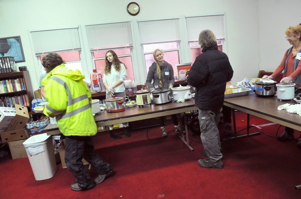 Food, clothing and services were provided during an event at the Grass Valley Salvation Army in this file photo. Local homeless people were asked to participate in a survey that helps service providers measure the needs of the community.