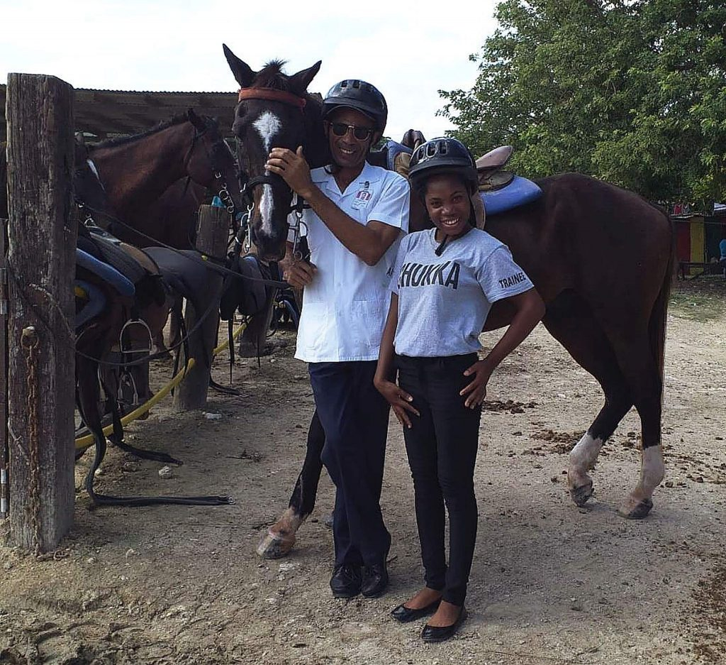 """Moya Lewis and Cedric """"Not the Entertainer"""" ensured we arrived safely for a horseback riding excursion in Jamaica."""