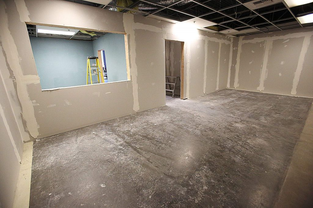 This recording studio is currently under construction at Nevada County Media.