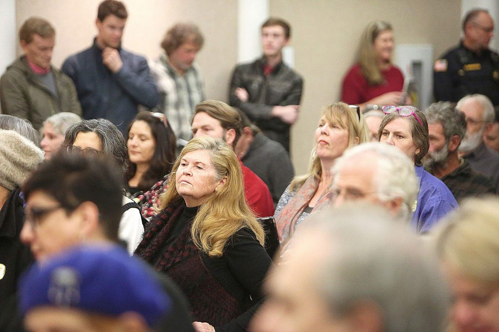 Tuesday's Nevada City Council meeting was standing room only.