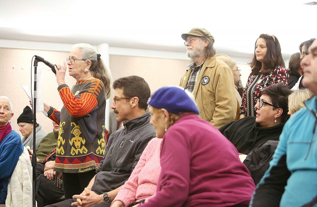 One after another, community members approached the dais to express their concerns regarding Nevada City Mayor Reinette Senum.