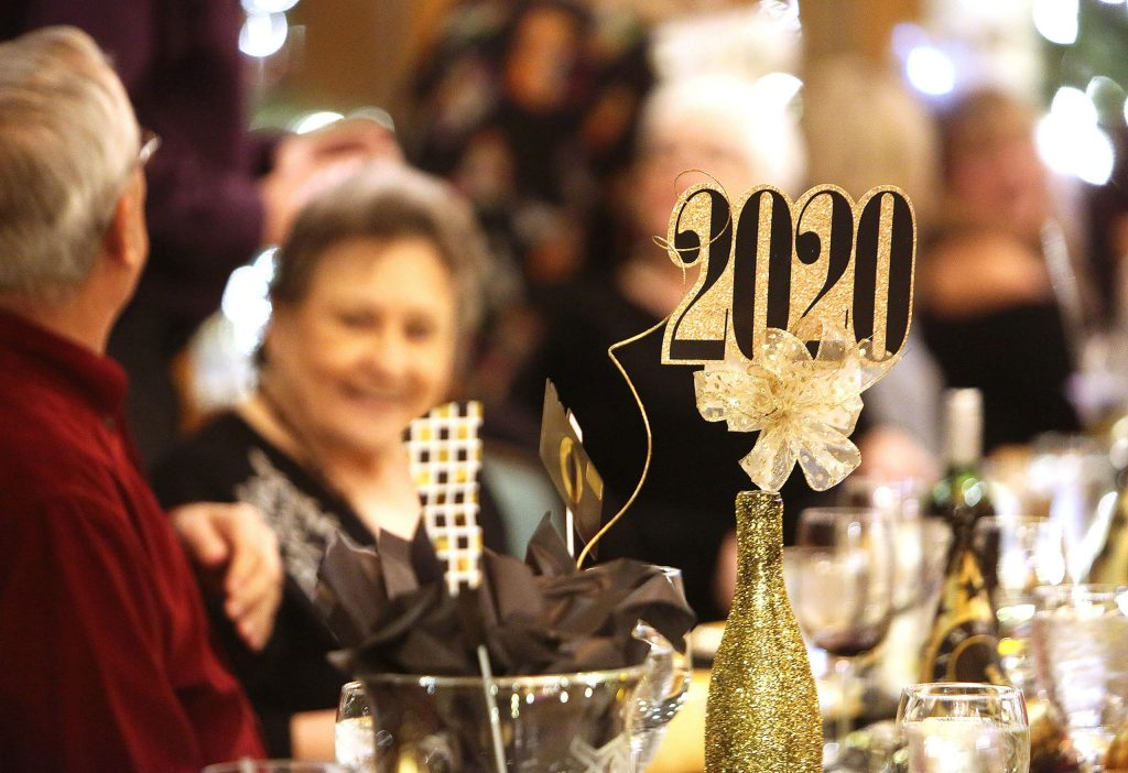 Folks rang in the new year with among friends and family at the Alta Sierra Country Club where a sold out prime rib dinner was served.