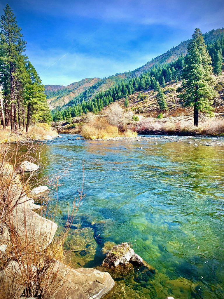 Truckee River along Highway 80 in early November.
