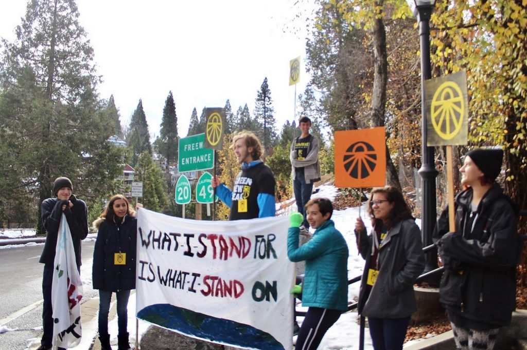 The Nevada County Sunrise movement, organized by a group of high school students, held a strike in Nevada City and plans to hold another in December.