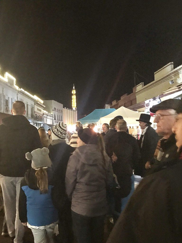 First Cornish Christmas of the season in downtown Grass Valley - great crowd!
