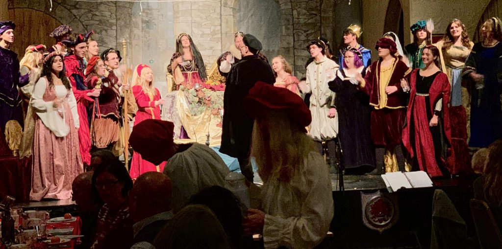 The Nevada Union choir sang wondrous and joyous music at their annual madrigal dinner held at Saint Joseph's Cultural Center on Saturday, December 7, 2019.