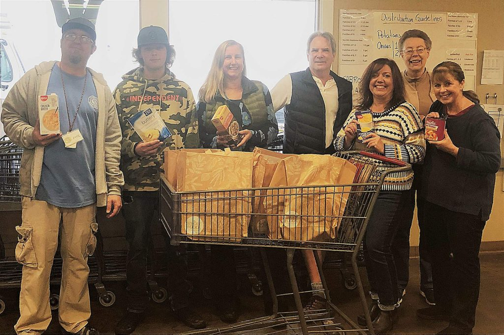 The Nevada County Food & Toy Run provided the meat and potatoes, Interfaith Food Ministry and Food Bank of Nevada County donated the holiday meal sides/extra staple items, and United Way helped organize the volunteer power to bag the food! The wonderful Bikers will be delivering the toys!