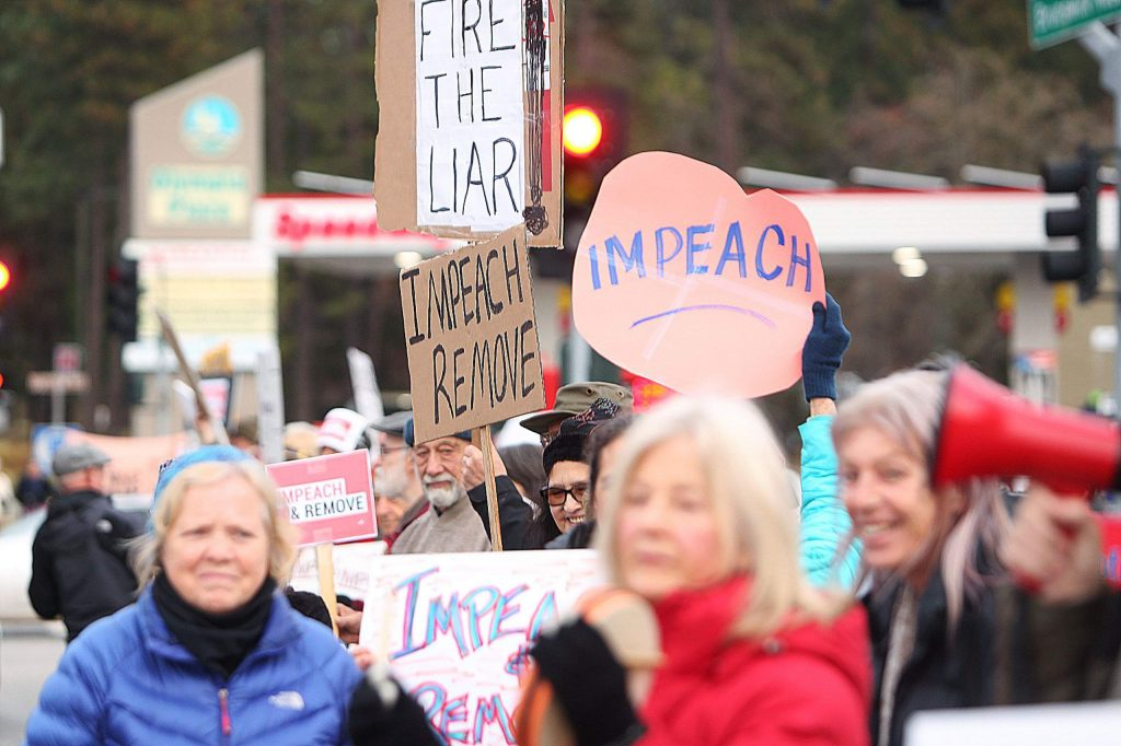 Tuesday's Grass Valley impeachment support rally coincided with rallies popping up across the country Tuesday.