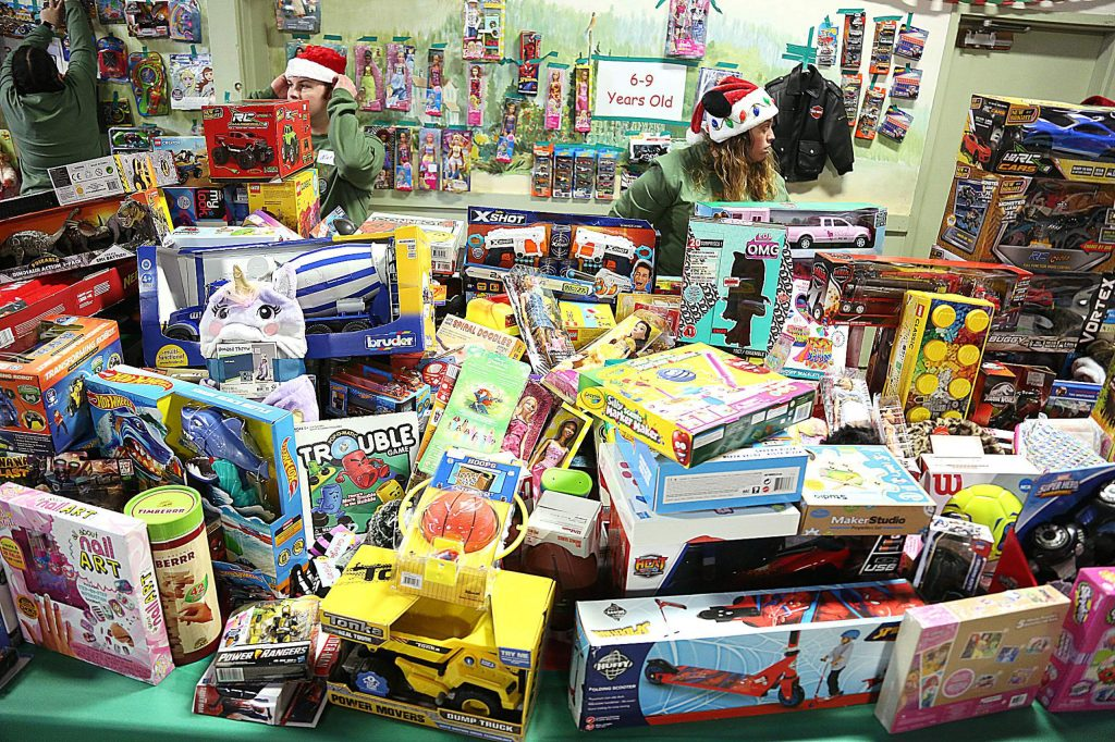 Thousands of toys for children of all ages were dropped at the fairgrounds for families by bikers during the annual Food and Toy Run Saturday afternoon.