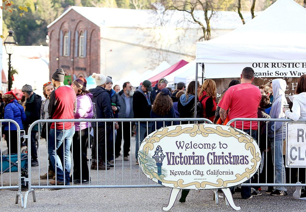 Victorian Christmas features a downtown Nevada City craft and vendor booth faire that stretches from the top of Broad Street downtown to the National Exchange Hotel.