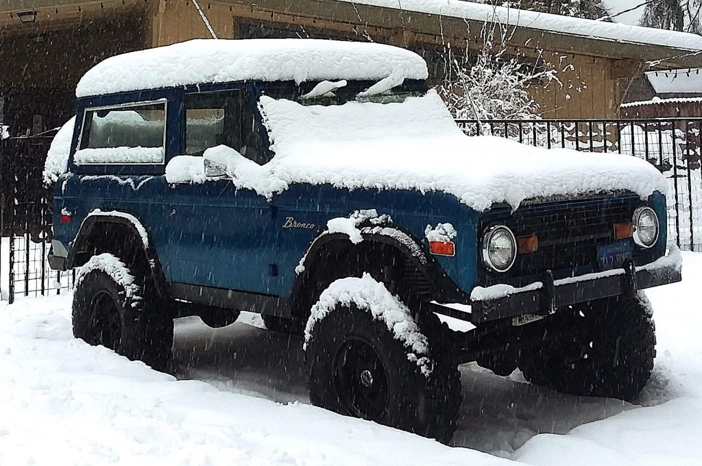 This 1970 Ford Bronco disappeared Dec. 7 in Grass Valley and was recovered the next day outside Washington. Police are searching for the suspect.
