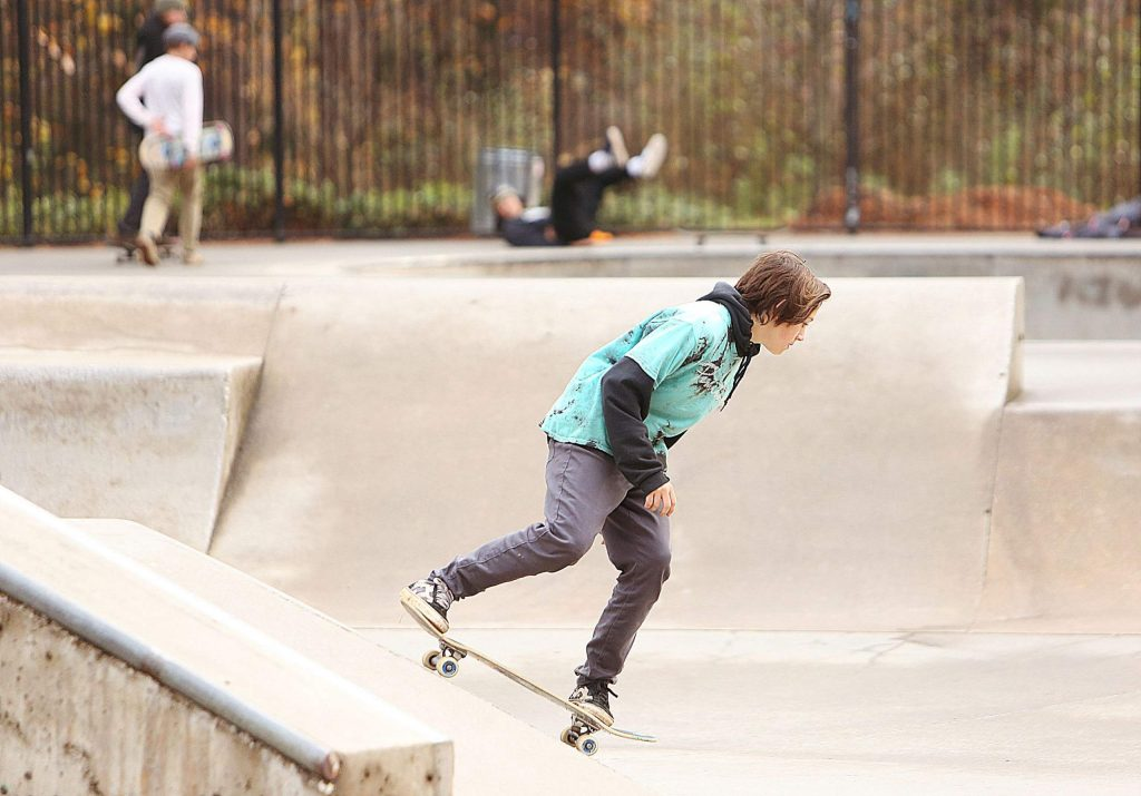 The local skateboarding community was glad for a break in the rain Thursday at the Condon Park Skate Park.