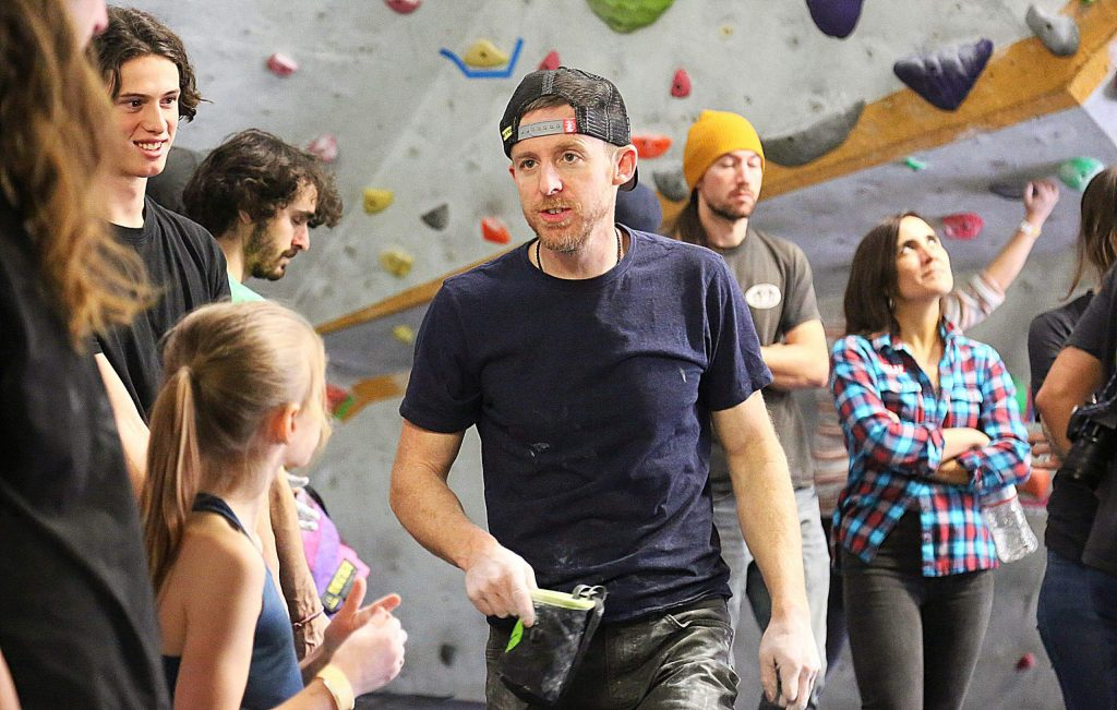 World class professional rock climber Tommy Caldwell captured the imaginations of youngsters and adults alike Saturday afternoon at Gold Crush Climbing Gym in Grass Valley, making an appearance for the Wild and Scenic Film Festival. Caldwell, featured in the film