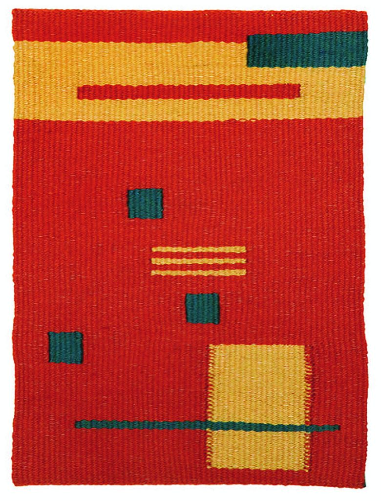 "Meet artist Sue Weil and see her handwoven wall hangings at LeeAnn Brook Fine Art during Victorian Christmas this Sunday, 1:30-6pm. Featured above, ""Southwest Abstract""."