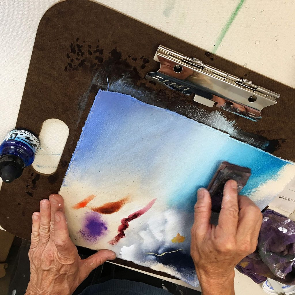 Featured artists this month are painters Dori Greenbaum and Margaret Lindsey.