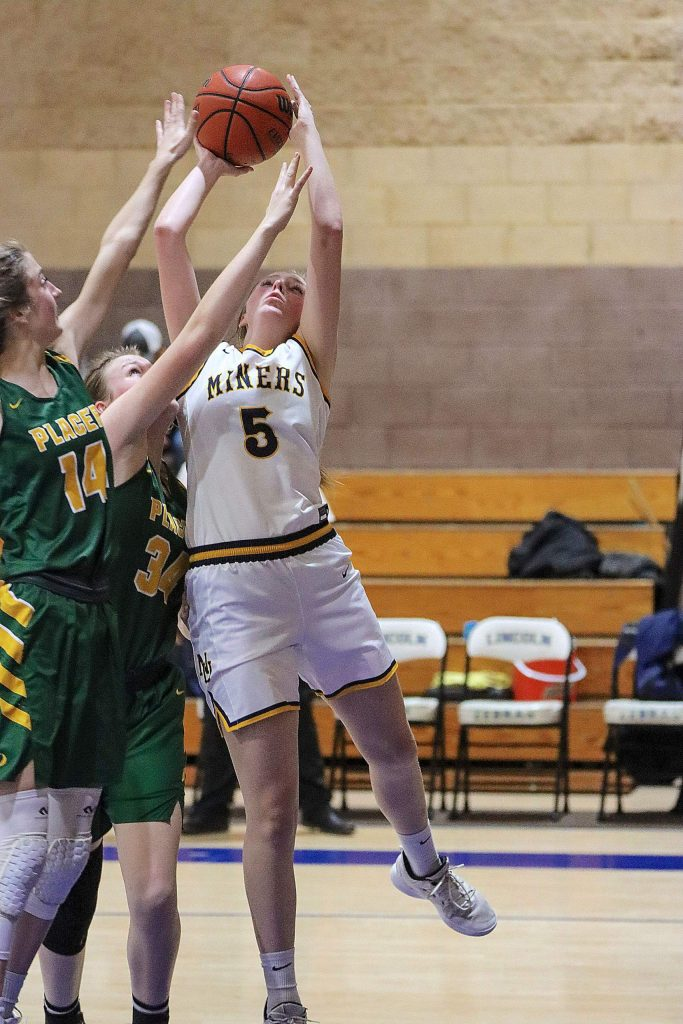 Nevada Union's Emerson Dunbar is a force in the front court for the Lady Miners. The senior forward is averaging a double-double in points and rebounds this season.