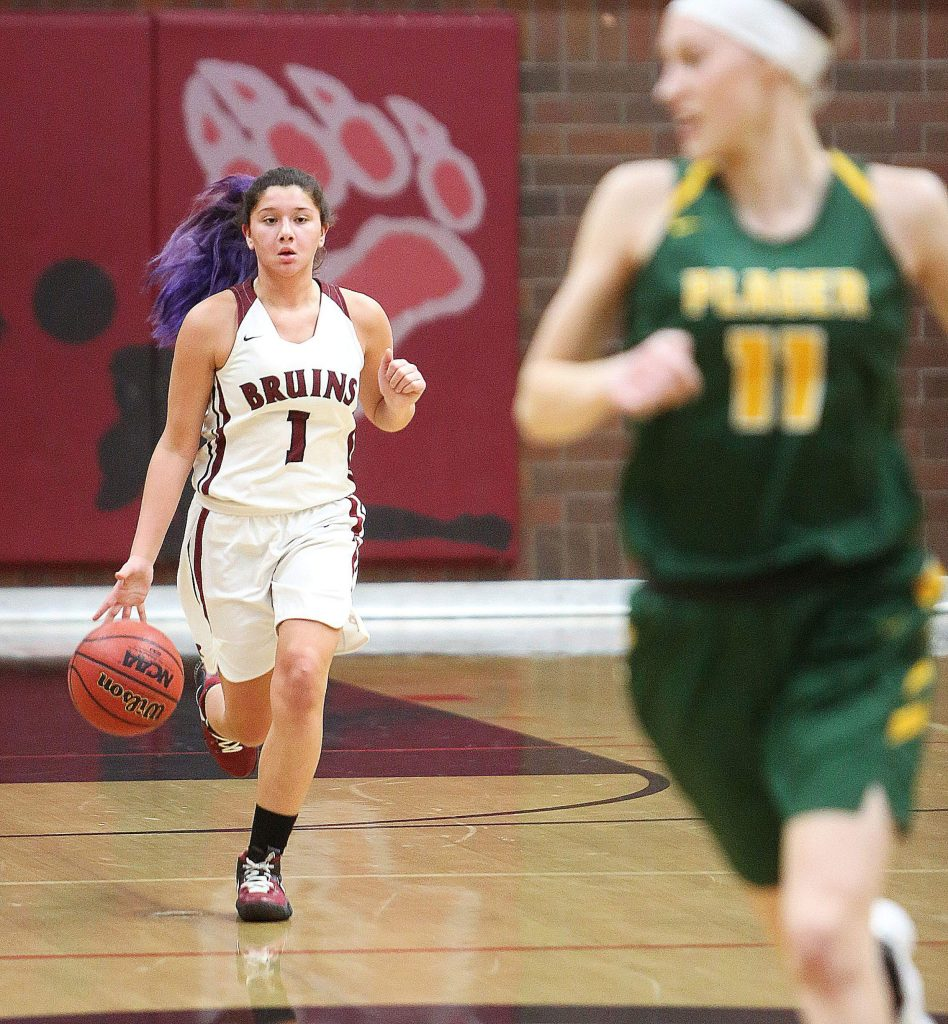 Bear River senior Gabi Corralejo brings the ball up the court for the Bruins.Corralejo is a taented guard and veteran leader for the Lady Bruins.