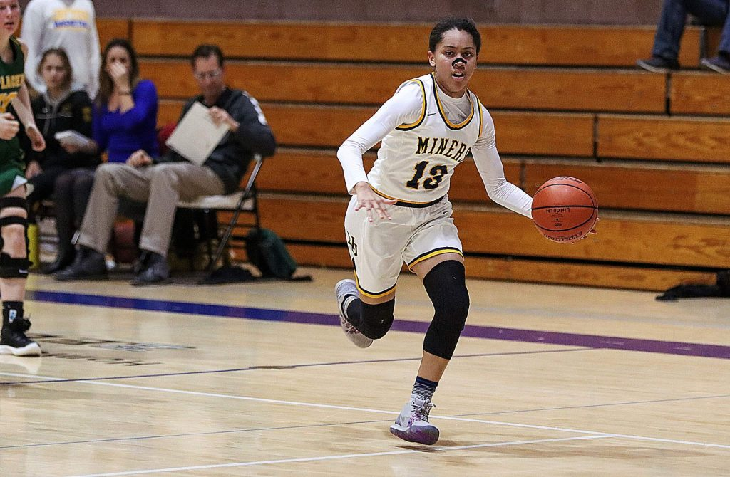 Nevada Union's Aijah King, a junior guard, is a standout on both sides of the court for the Lady Miners.