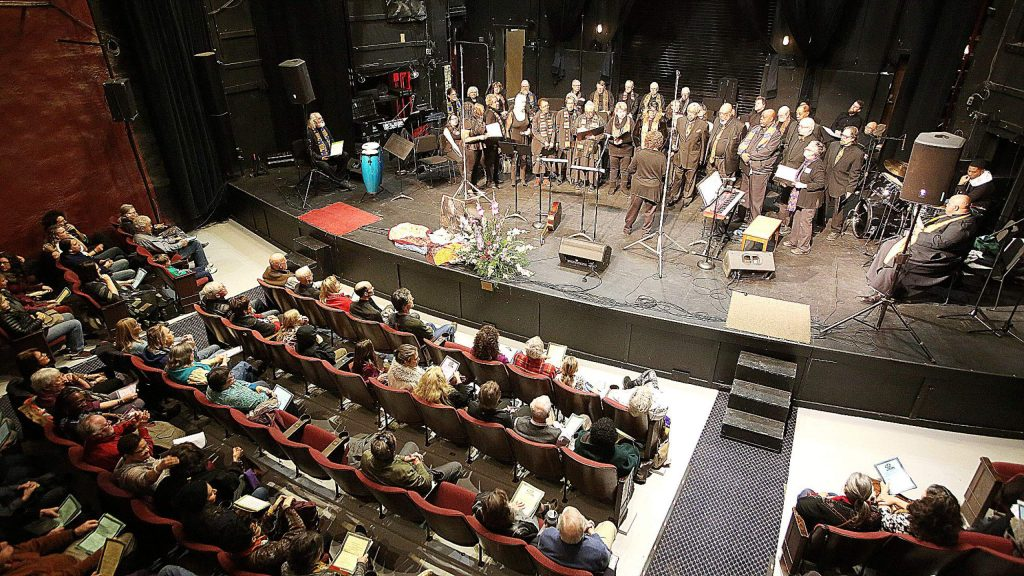 Audience members filled the seats at the Nevada Theatre for the 38th annual KVMR Radio King Day free gospel concert.