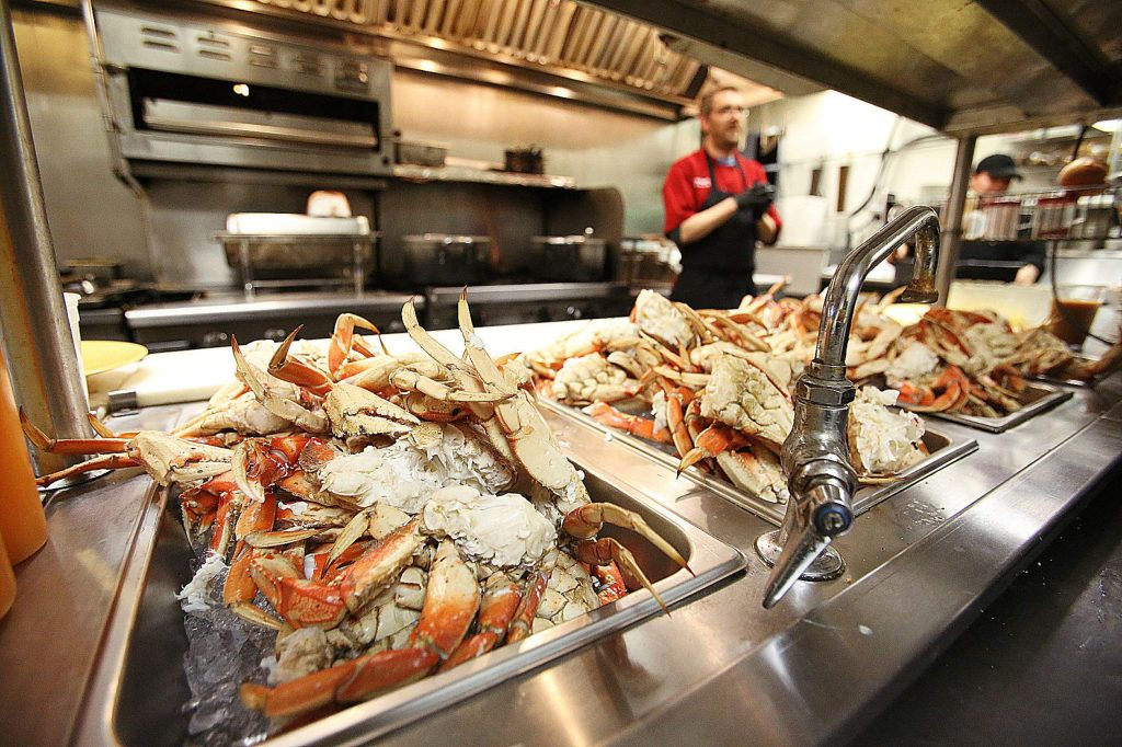 The Alta Sierra Country Club held their annual all you can eat crab feed Saturday much to the delight of area crab lovers. Chefs prepared 275 pounds of dungeness crab which came fresh direct from Seattle Washington.