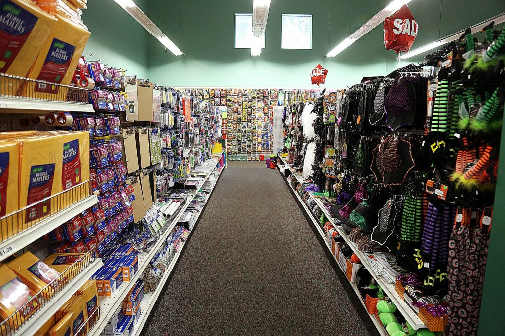 The organization of the items for sale at Dollar Deluxe Store is a source of pride for workers who are complimented for keeping a neat and organized store. Current employees have been offered positions with the Goodwill store that is slated to take its place.