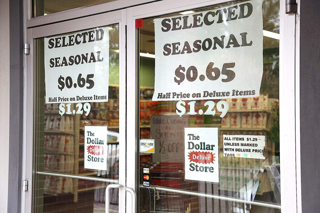 The Dollar Deluxe Store off Sutton Way has reduced the price on many items in hopes of helping to liquidate its stock.