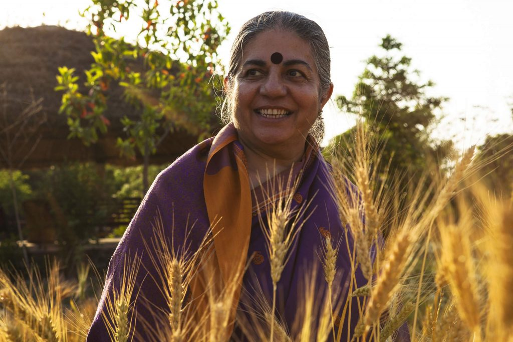 "Internationally acclaimed author and keynote speaker Dr. Vandana Shiva, known as ""one of the world's most dynamic and provocative thinkers on food sovereignty,"