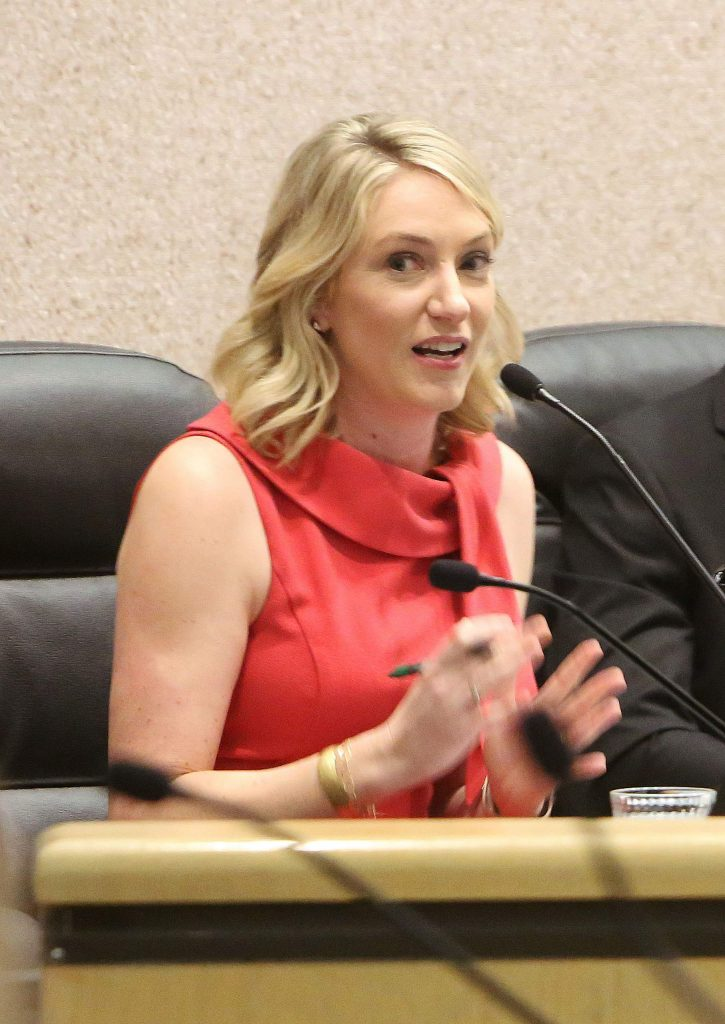 Audrey Denney was one of three Democratic District 1 Congressional candidates to answer questions during Thursday's League of Women Voters of Western Nevada County forum at the Rood Government Center.