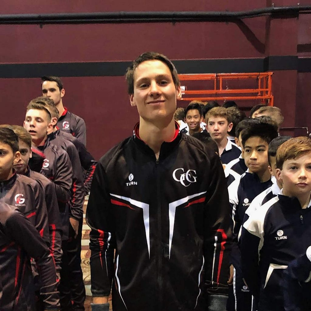 Gold Country gymnast Andrew Fairchild placed fourth in the floor exercise at the Jake Dalton Invitational in Reno.