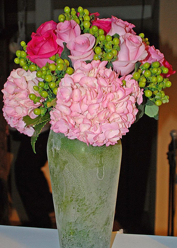 Adding a few roses to bouquets with less fragrant flowers, like hydrangea, will add the aroma that many people desire when receiving a floral arrangement.