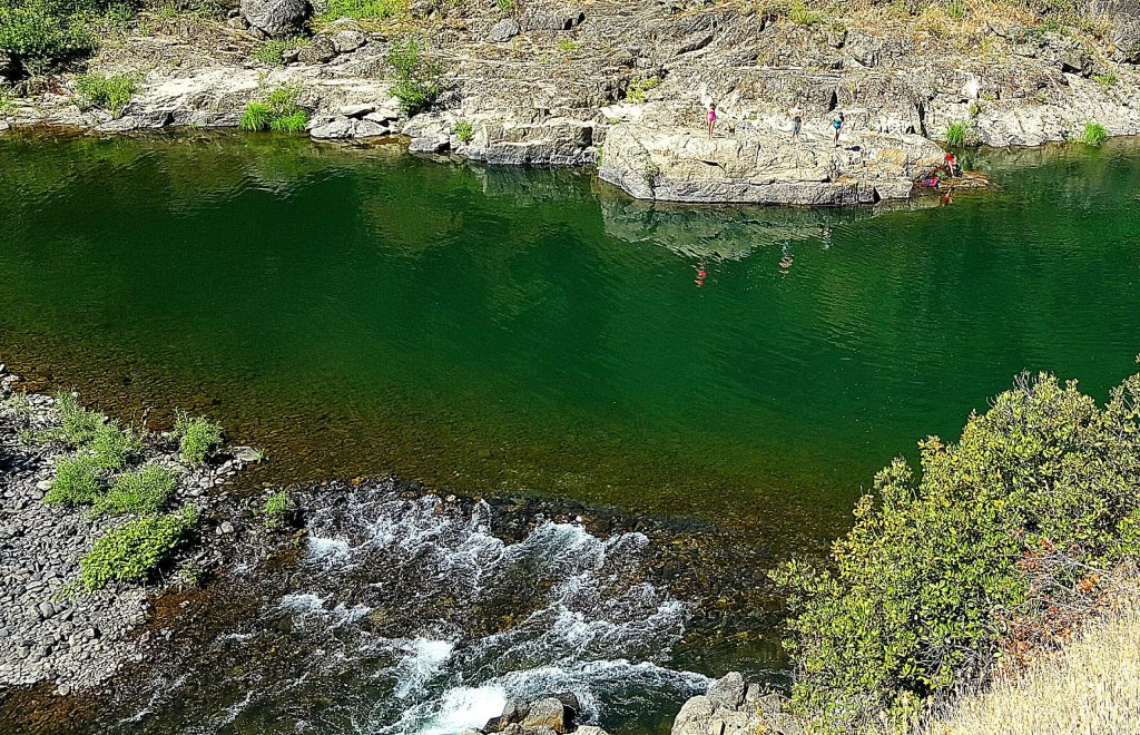 Clark's Hole along the Clementine Trail is a very popular swimming hole in summer. Across the river is a great rock for sunbathing.