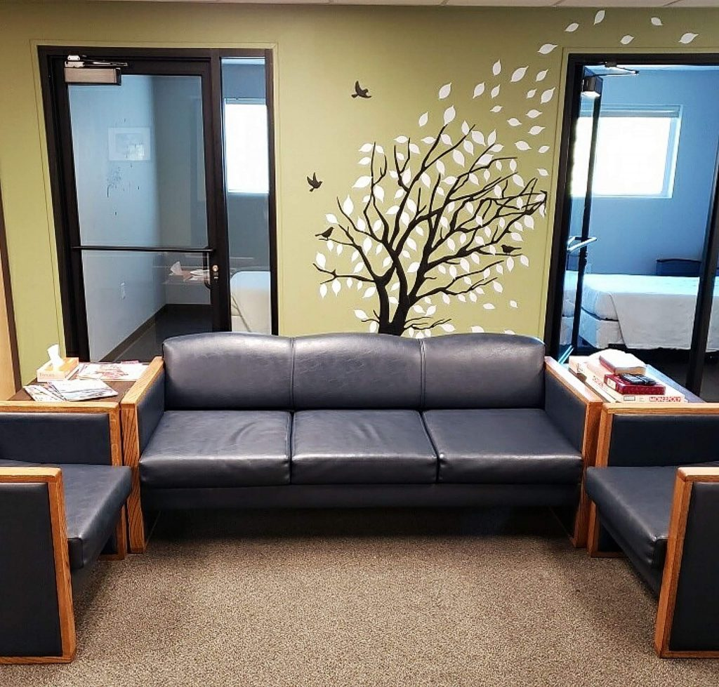 The home-like environment is key part of healing at the Crisis Stabilization Unit, which is located adjacent to the emergency department at Sierra Nevada Memorial Hospital. Above, family members can meet with clients who are experiencing a mental health crisis.
