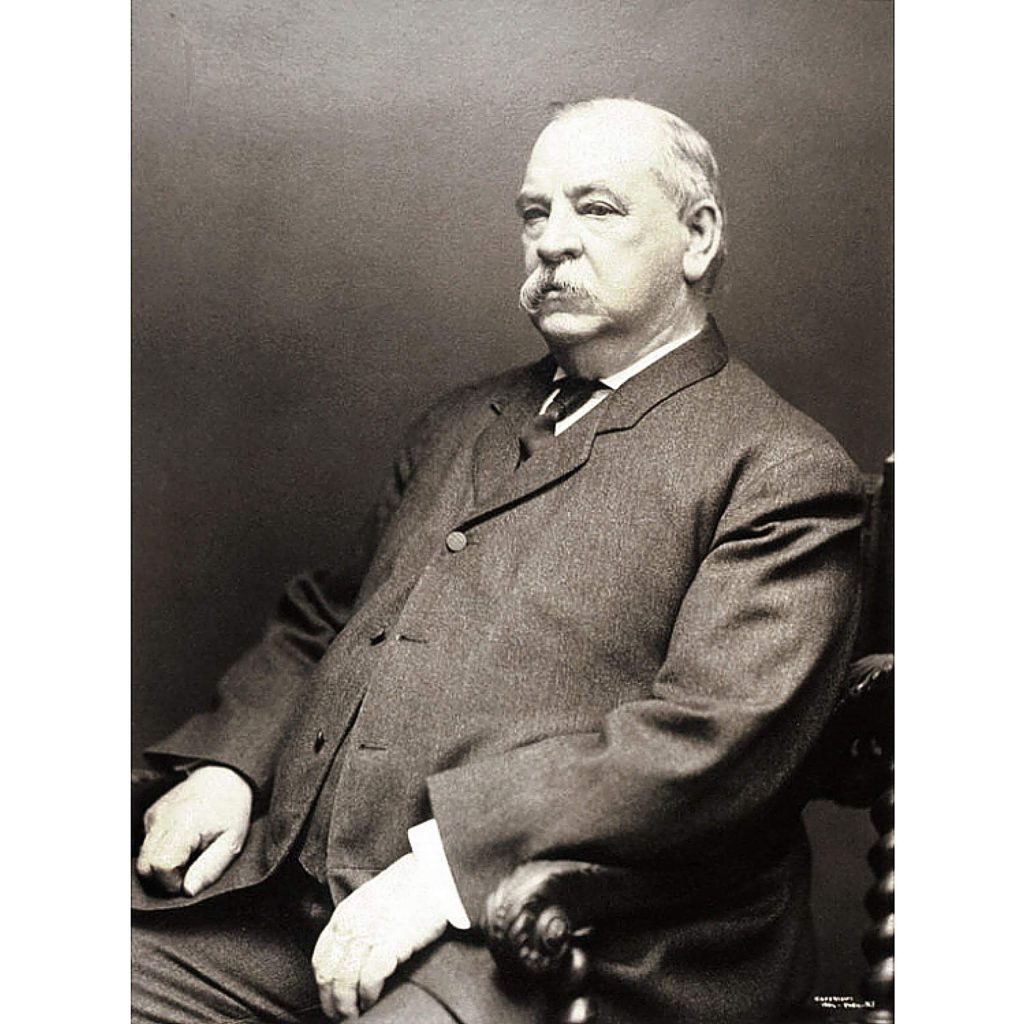 On April 21, 1898, former president Grover Cleveland was at home in Princton, New Jersey, and spoke to college students that evening.