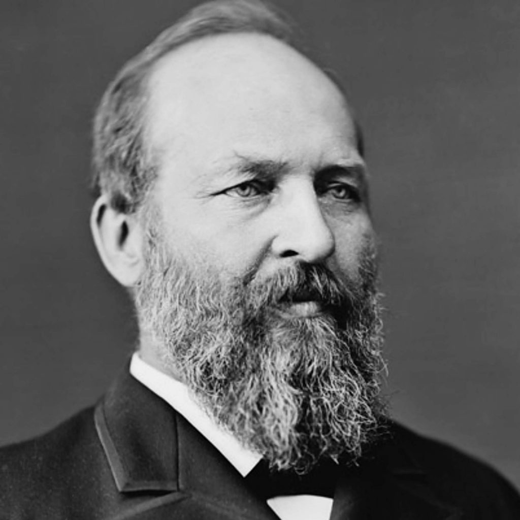 President James Garfield was assasinated September 19, 1881, and there is no record of him having been in Nevada County.