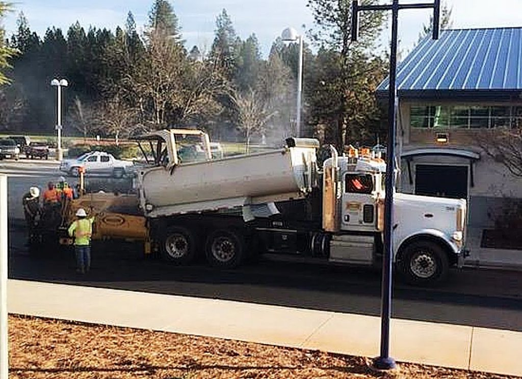 As part of the Ali Alley repaving project at Nevada Union High School, Hansen Bros. replaced aging, 30-year-old infrastructure.