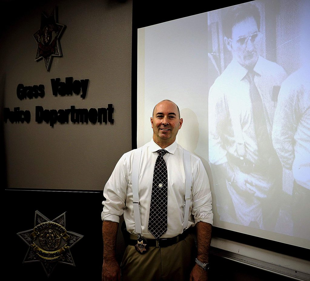 Grass Valley Police Lt. Joe Matteoni honored his father's memory by dressing as his father did during his career with the San Francisco Police Department.