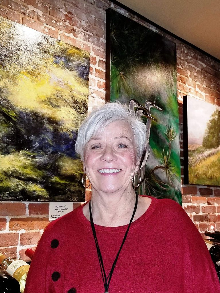 Eileen Sitko's works of art are on display through Jan. 26 at Cork 49 in downtown Grass Valley.