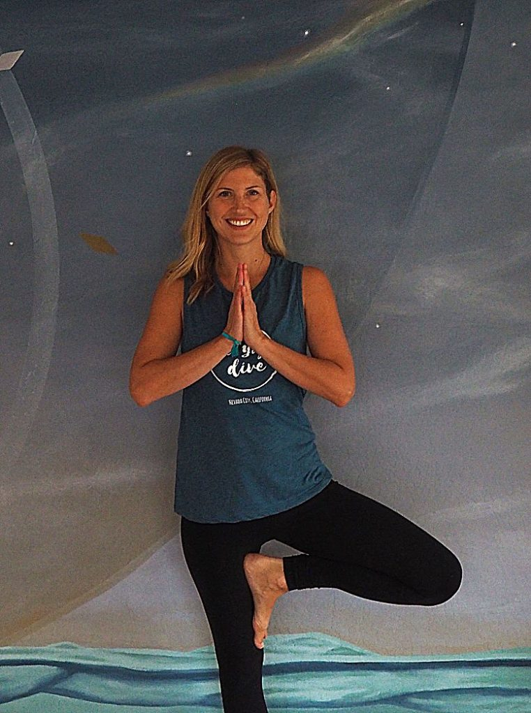 Emily Burton (pictured) and Laura Brownell, who co-own The Yoga Dive, will be hosting an open house in their new location on Jan. 26. For more information, visit TheYogaDive.com.