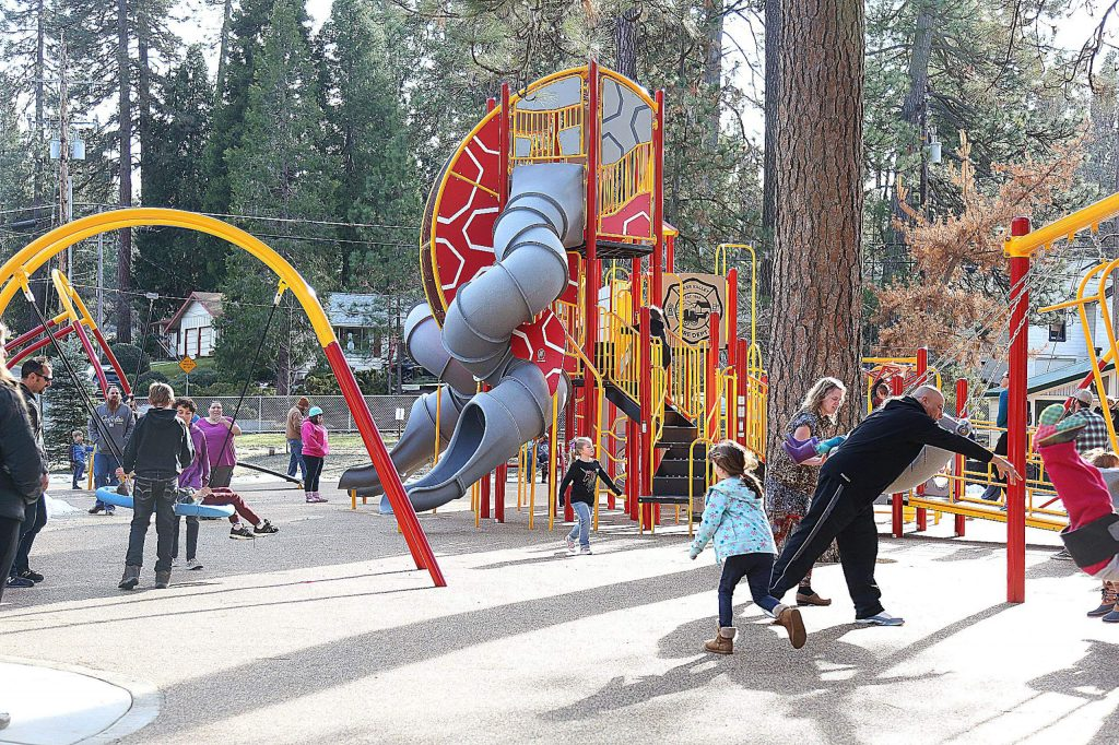 The recently re-opened Minnie Park is very popular with new park elements that have been installed.