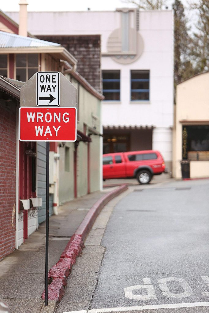 York Street was recently a two-way street until the city made it a one-way direction for a trial period.