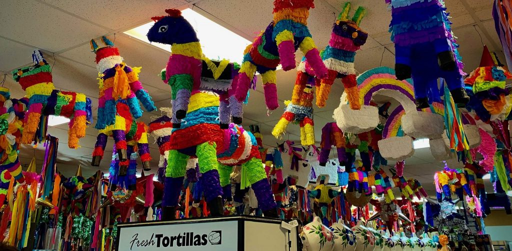 It's piñata time at the Mexican Market in Auburn - they have the best tamales! Photo taken December 19, 2019.