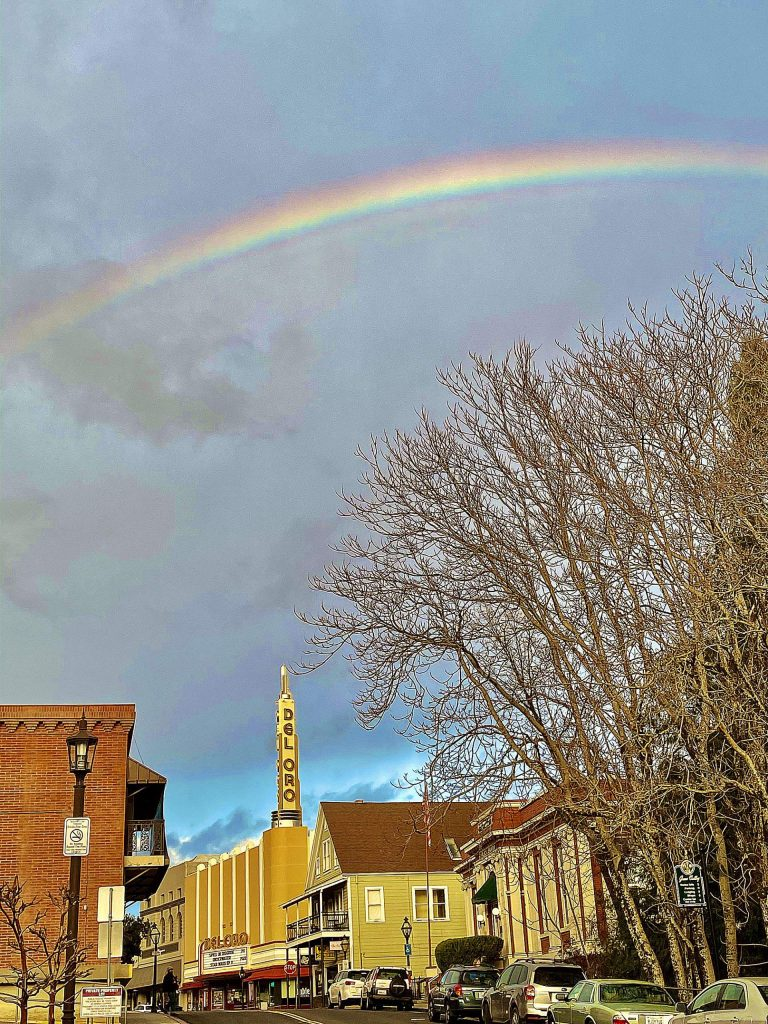 This afternoon (Jan. 11) there were crazy gorgeous rainbows everywhere you looked in Grass Valley!
