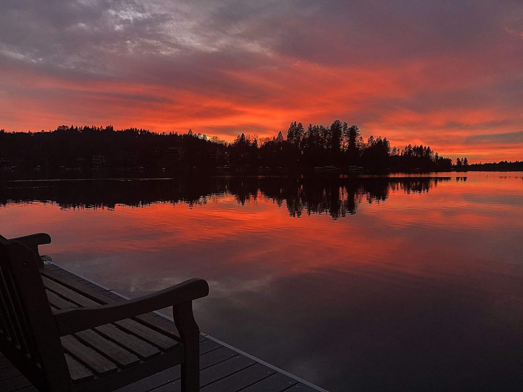 The sky was lit up tonight for another Lake of the Pines sunset.