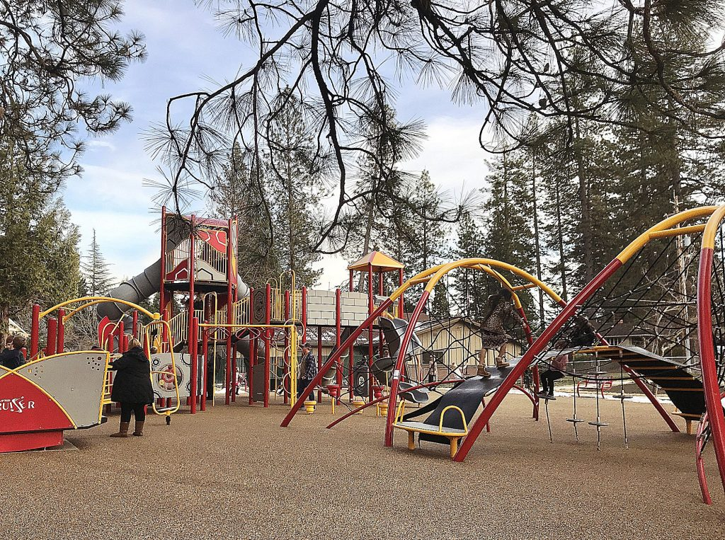 A new playground opened at Condon Park this week and is very popular.